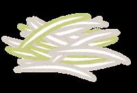 ラーメンのトッピングのイラスト(白髪ネギ)
