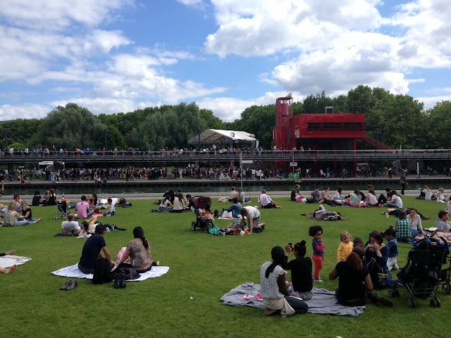 concierto en parque de la Villete en París