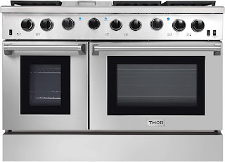 Thor Kitchen Oven 4801 48 Pro-Style Range, Natural Propane Gas Stainless Steel