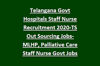 Telangana Govt Hospitals Staff Nurse Recruitment 2020-TS Out Sourcing Jobs-MLHP, Palliative Care Staff Nurse Govt Jobs Online Form