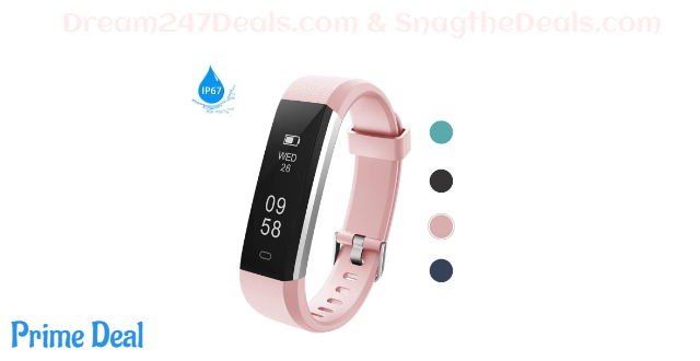 60% off Lintelek Activity Tracker Fitness Tracker Pedometer with Steps and Calorie Counter, Sleep Monitor for Android Phone or iPhone
