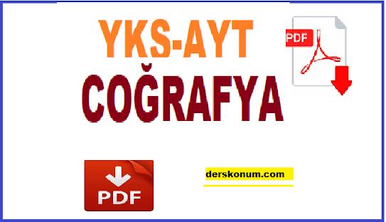 YKS, AYT COĞRAFYA KONU ANLATIMI PDF İNDİR
