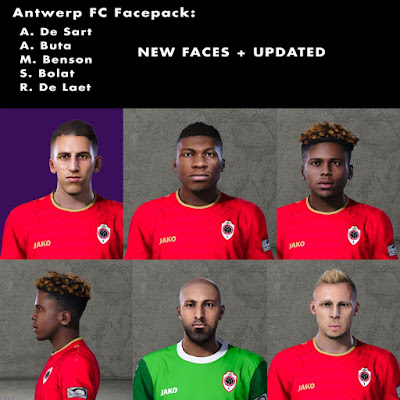 PES 2020 Faces Antwerp Facepack #1 by SpursFan07