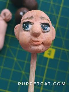 роспись головы куклы