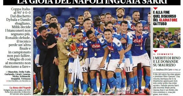 الصحف العالمية.. كأس نابولي و ثلاثية مانشستر سيتي ضد أرسنال