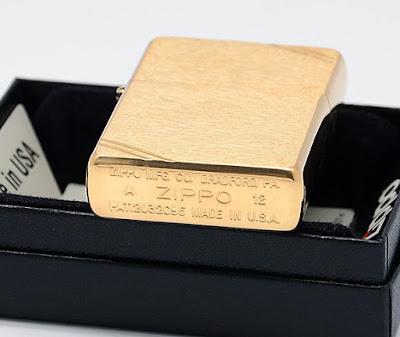Zippo Vintage vàng nhám chặt góc – MS 240 | Zippo | Zippo usa