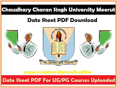 CCSU Date Sheet 2021 PDF Download