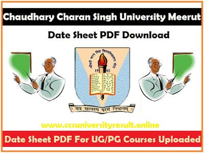 CCSU Date Sheet 2021 PDF Download