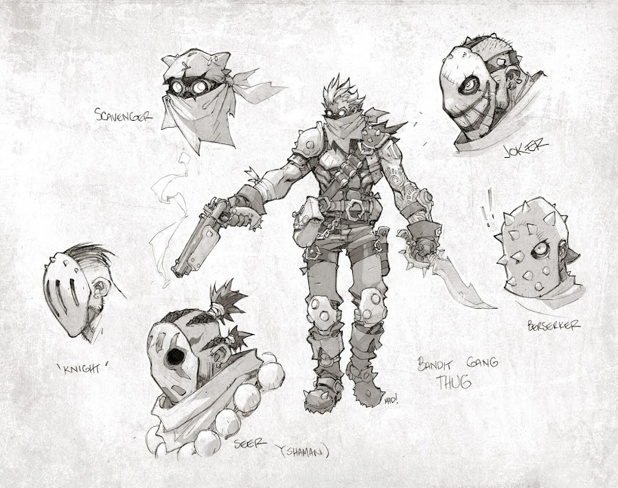 battle chasers nightwar junkers and bandits concept art