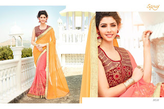 ANGEL VOL 3 SAROJ SAREES WHOLESALER LOWEST PRICE SURAT GUJARAT