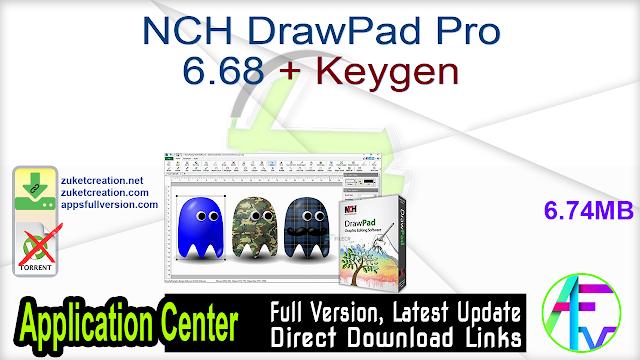 NCH DrawPad Pro 6.68 + Keygen