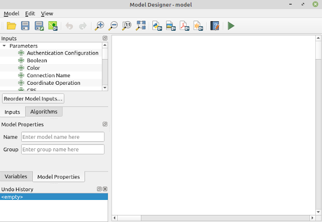 QGIS Graphical Modeller Window