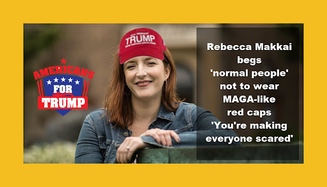 Rebecca Makkai begs 'normal people' not to wear MAGA-like red caps 'You're making everyone scared'