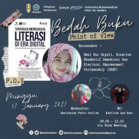 Bedah Buku Tantangan Membumikan Literasi di Era Digital Bersama Neni Nur Hayati