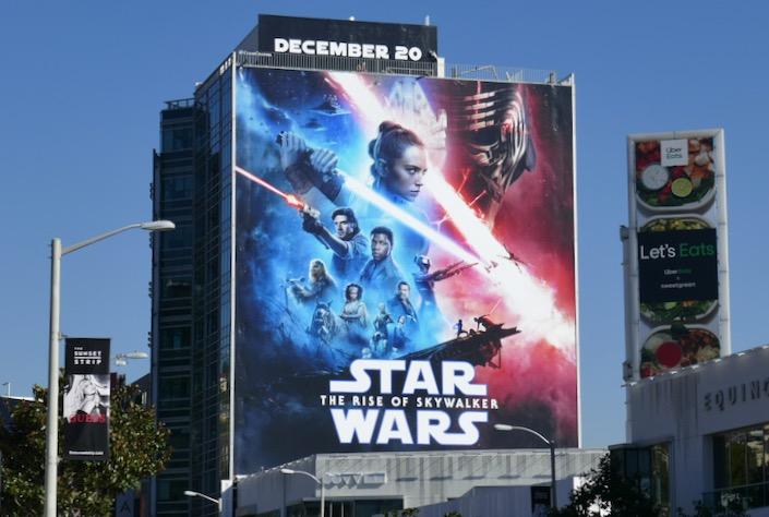 Star Wars Rise of Skywalker movie billboard