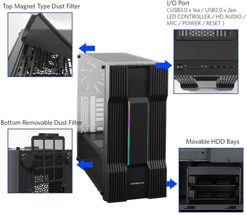 Review ABKONCORE C610S ATX Mid-Tower Computer Case