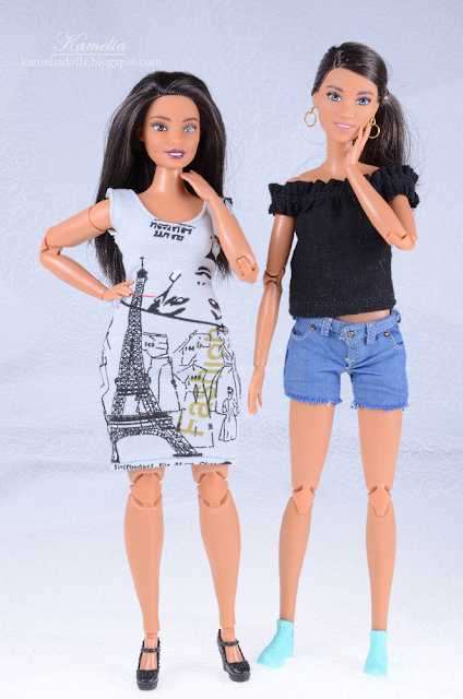 Barbie Fashionistas #78 Floral Frills rebodied