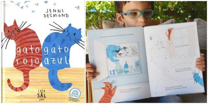 cuento infantil emociones autoestima envidia: gato rojo, gato azul educacion emocional