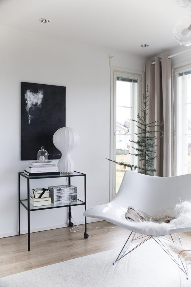 Villa H, ideoita jouluun, Libanoninsetri, cedrus libani, joulukuusi, olohuoneen sisustus