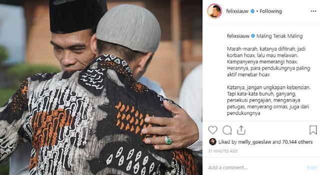 Komentari Fitnah UAS, Ustaz Felix Siauw: Maling Teriak Maling