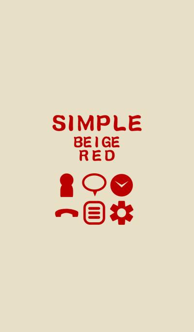 SIMPLE beige*red