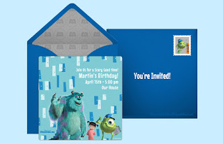 monsters inc free birthday invitations