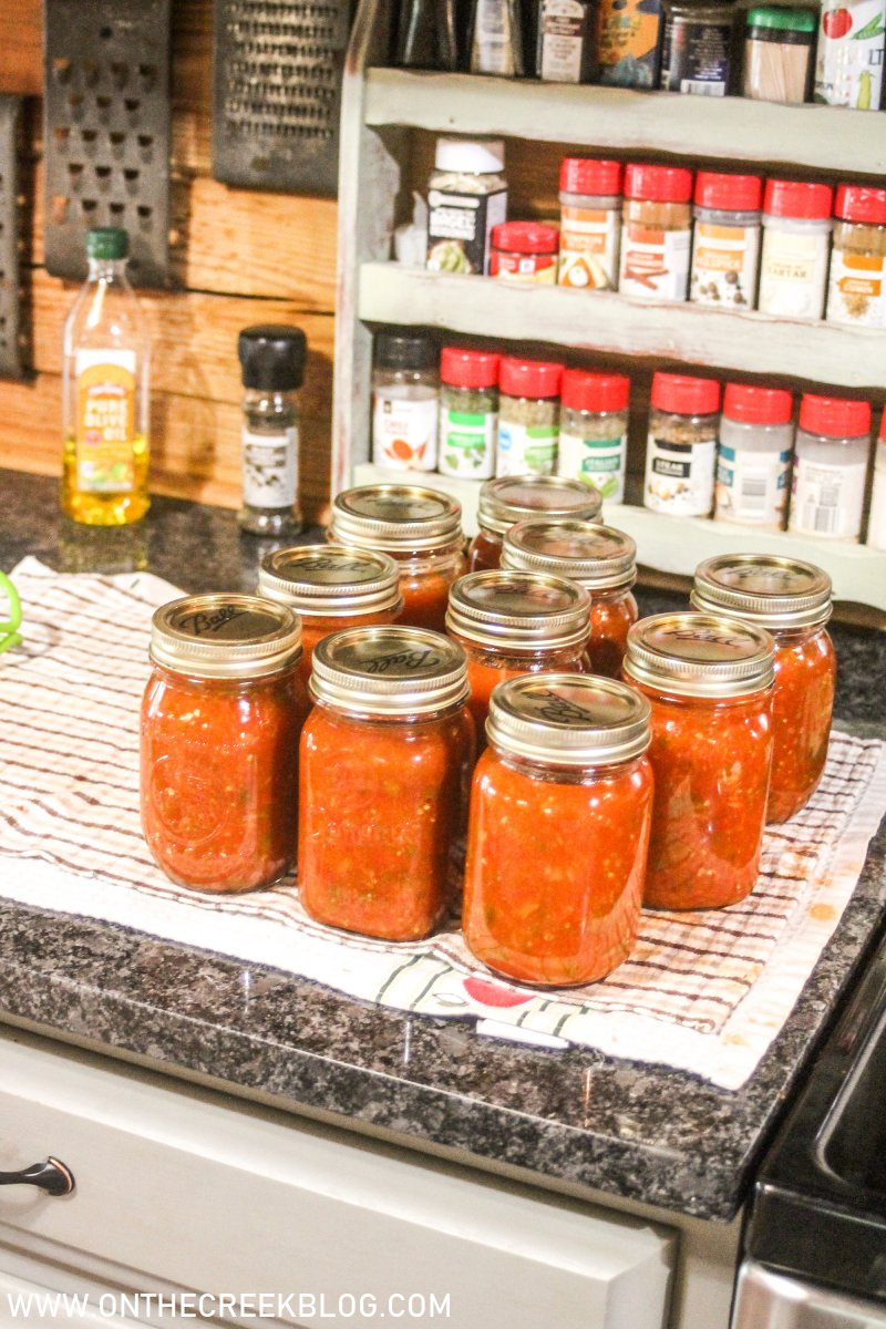 home canning - salsa | On The Creek Blog