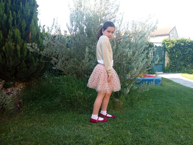 Moda niña Sfera. El Corte Ingles. Falda de Tul de niña