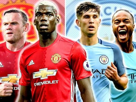 Trận cầu nảy lửa xảy ra khi Manchester United gặp Man City