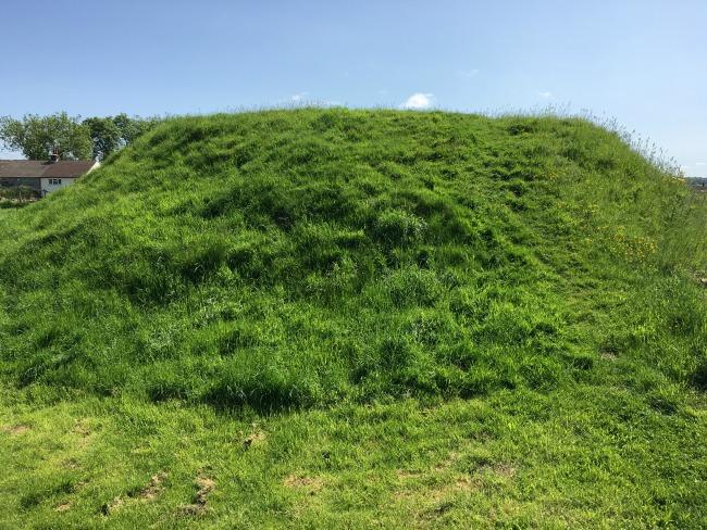 Big grassy mound