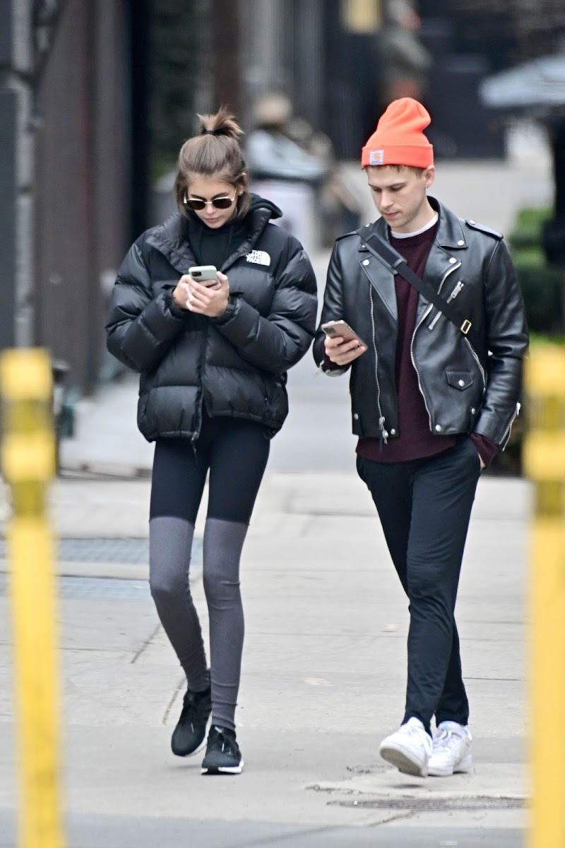 Kaia Jordan Gerber and Tommy Dorfman Leaves a Gym in New York 5 Feb-2020