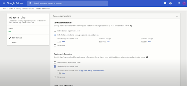 Use group-based controls for LDAP client access permissions 1