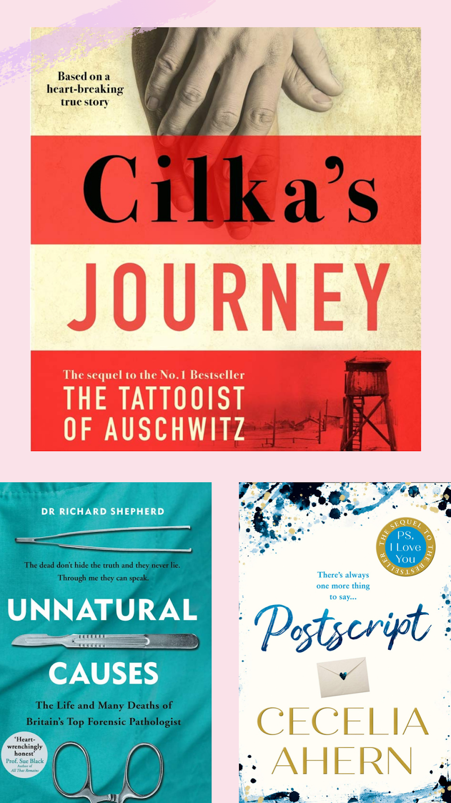 books - cilka's journey, postscript, unnatural causes