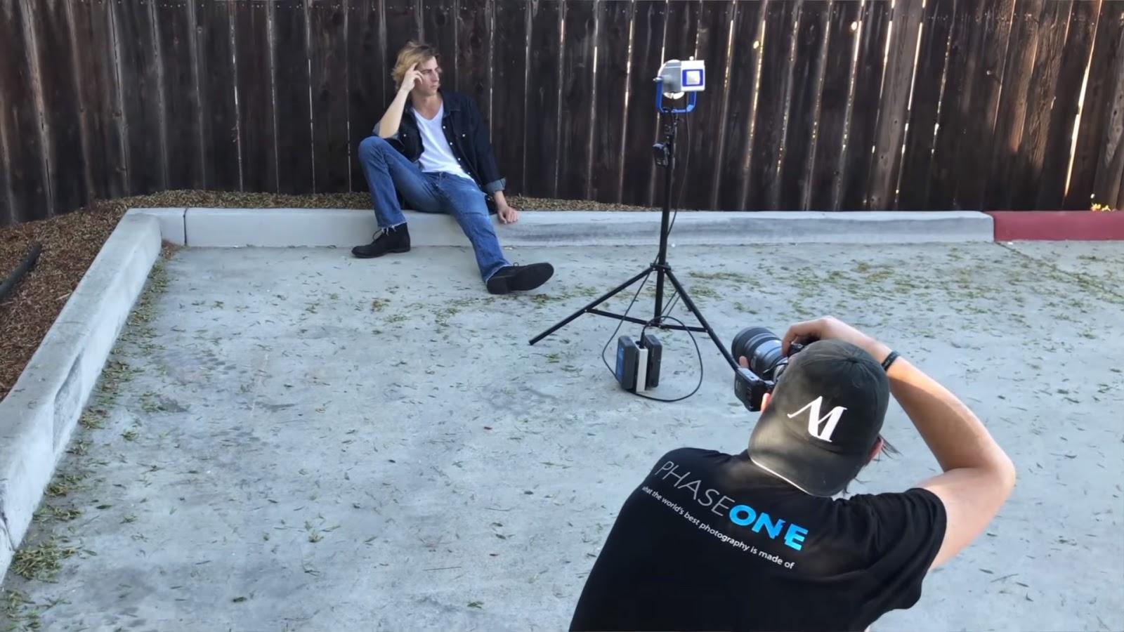 Светодиодная вспышка Photonicz в работе