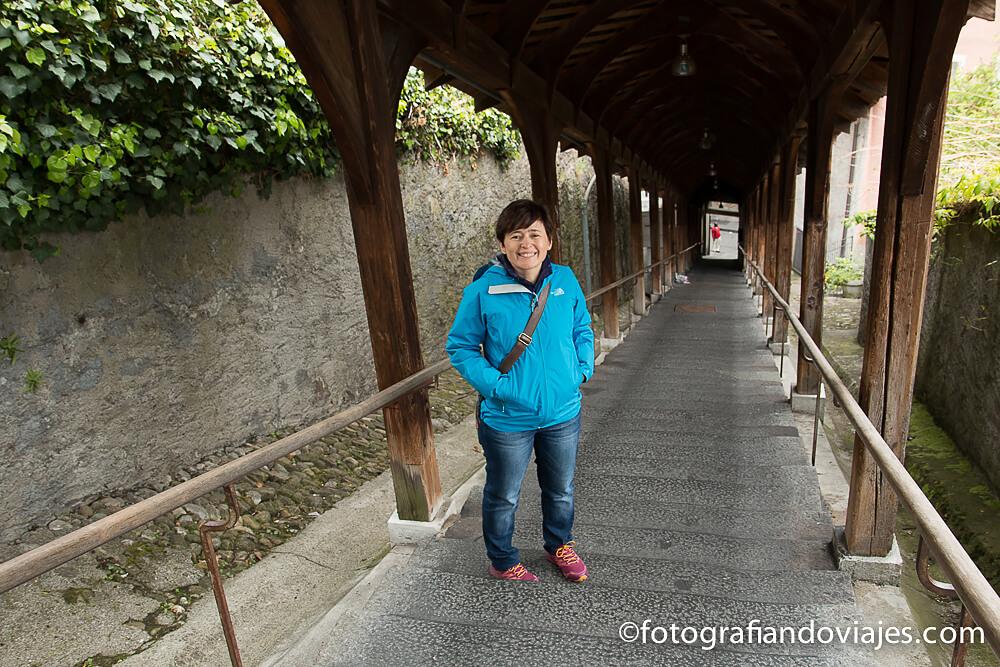 subida al castillo de Thun