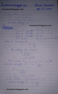 F.Sc ICS Notes: Physics XII: Chapter 18 Electronics Numerical Problems by Asad Hussain 4
