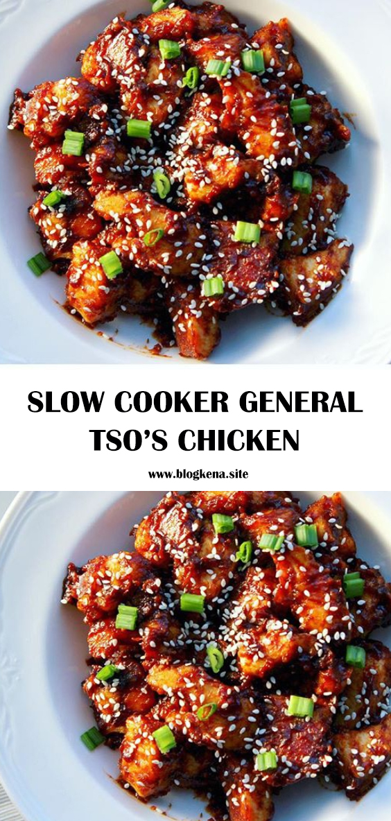 SPICE UP YOUR WEEKNIGHT MEAL BY MAKING SLOW COOKER GENERAL TSO'S CHICKEN