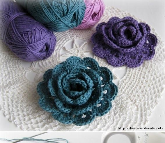 Crochet Flower Pattern Pictures : Top 10 Free Crochet Flower Patterns The Blue Elephants