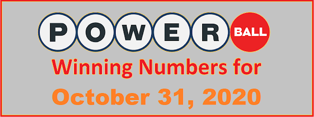 PowerBall Winning Numbers for Saturday, October 31, 2020