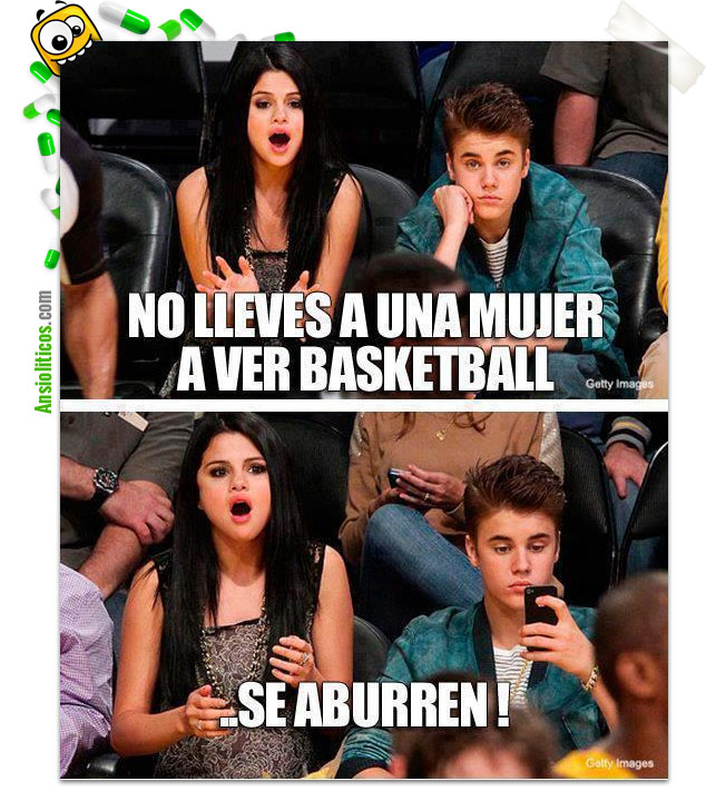 Chiste de Justin Bieber: Baloncesto con Selena Gómez