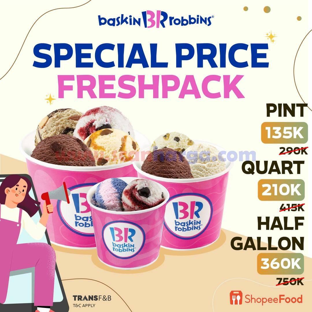 BASKIN ROBBINS Promo SPECIAL PRICE FRESH PACK mulai Rp. 135 Ribu