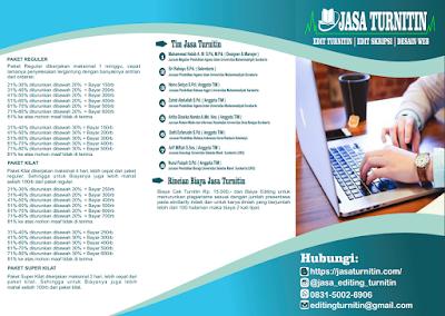 Jasa Lolos Turnitin 100% Garansi Resmi Area Universitas Negeri Padang