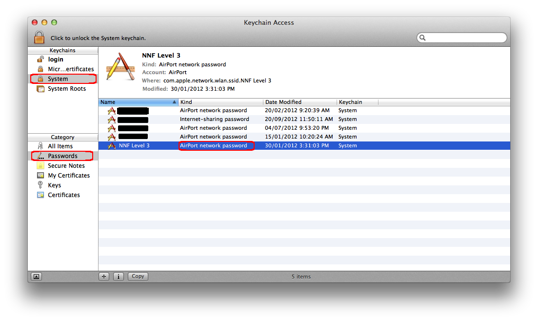 My Tech Notes: Mac OS: Show WIFI password