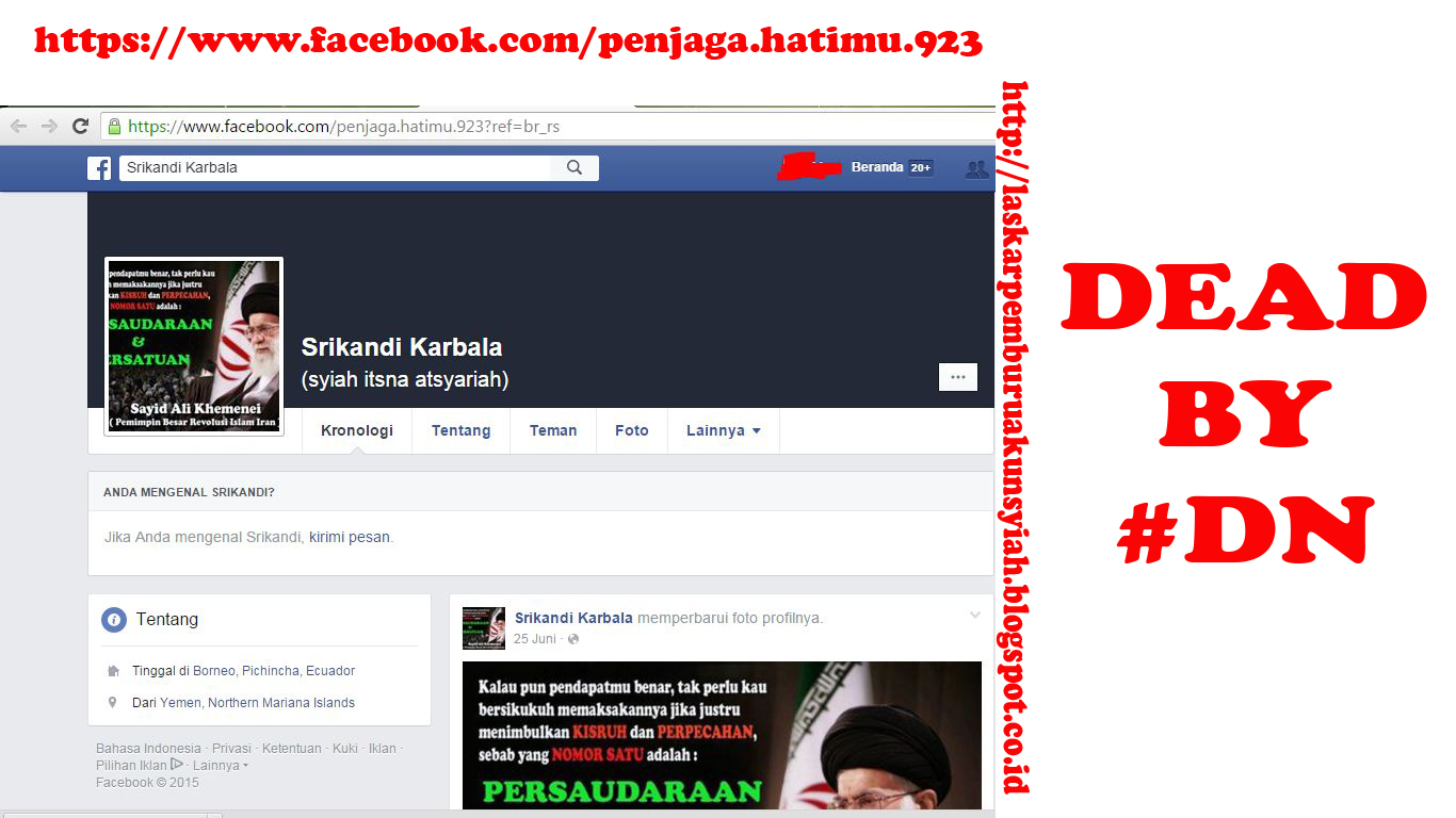 Akun Facebook Syiah 201-210
