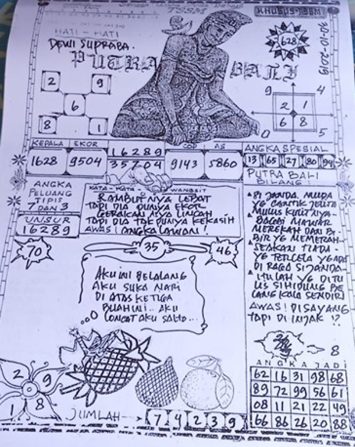 Syair Togel Sgp Putra Bali 30 10 2019