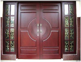 pintu minimalis kayu jati terbaru