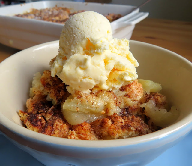 Apple Crisp with Sweet Biscuit Topping