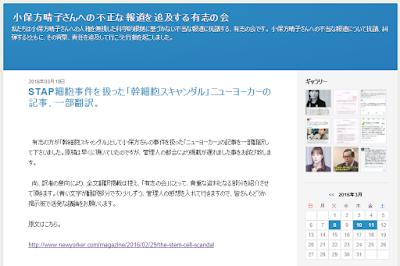 「小保方晴子さんへの不正な報道を追及する有志の会」