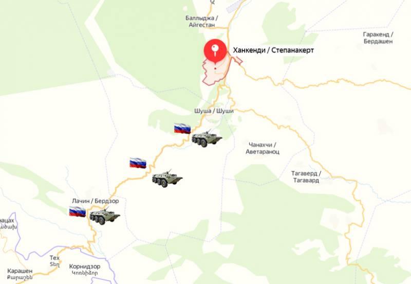 Нагорний Карабах: російські військові беруть під контроль Лачинський коридор