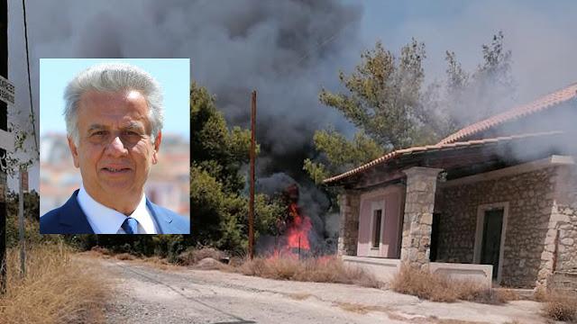 Δήμαρχος Ερμιονίδας: Το ανακριτικό της πυροσβεστικής θα ερευνήσει τα αίτια της πυρκαγιάς